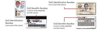 sample id cards showing your id to providers tricare