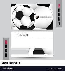 Soccer Business Card Modern Soccer Business Card Set