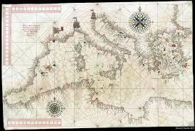 Portolan Charts A Medieval Portolan Chart Reconstruction Drawn On Parchment