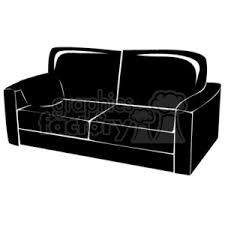 couch clipart black and white. black couch clipart and white t