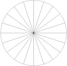 Blank Pie Chart 24 Pieces Bedowntowndaytona Com