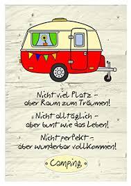 Bild Vintage Caravan Mit Campingspruchdruck Din A4 Amazonde Handmade