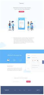Flat Website Design Ideas Landing Page Flat Web Design Website Design Inspiration