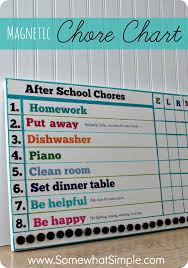 Somewhat Simple Chore Chart Magnetic Kids Chore Chart Chore Chart Kids Chores For