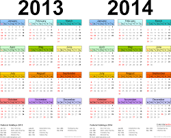 year calender 2013 2014 calendar free printable two year word calendars