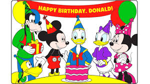 Mickey Mouse Clubhouse Happy Birthday Donald Learn Colors With