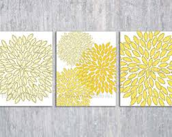 Yellow Gray Wall Art Printable Files Yellow Gray Geometric