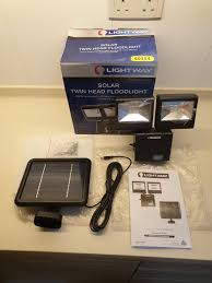Lightway Solar Twin Head Flood Light From Australia