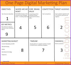 simple one page business plan template one page business plan template free best simple image