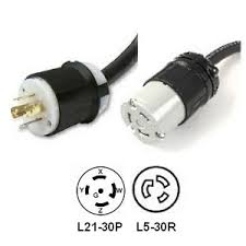 rackmountpdu picture of l21 30p to l5 30r power cord adapter 30 amp 208v