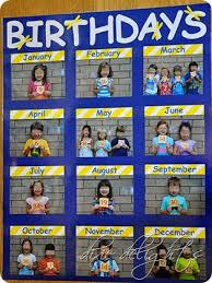 Birthday Charts For Preschool Classroom Classroom Birthday Picture Chart Free Printable Dixie