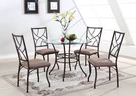 image of glass round kitchen table and chairs sets for 4 square new