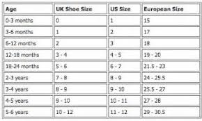 Uk Shoe Size Chart Child Uk Baby Foot Size Chart Www Bedowntowndaytona Com