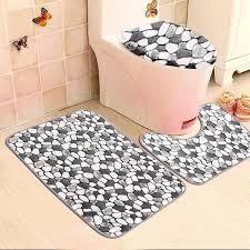 2019 whole non slip washable floor carpet bath mat pedestal toilet rug kits c velvet pebble pattern bathroom mats rugs set from copy02