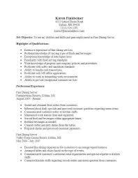 Fine Dining Resume Britishwildlife Awesome Resume For Server