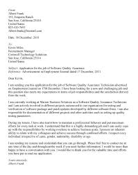 Gallery Of Cover Letter Qa Test Lead Qa Cover Letter Wireless