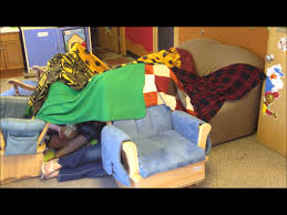Build A Blanket How To Make A Blanket Fort Youtube