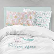 mermaid bedding pink aqua bedding