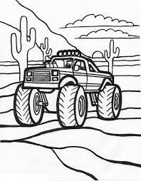 Small Picture Printable Monster Truck Coloring Pages For Kids To Print adult