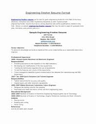 Sample Resume In Pdf For Freshers Unique Sample Resume A Mechanical