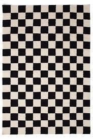 rug black and white. checkmate flat-weave rug black \u0026 white and