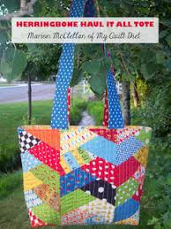 Quilt Inspiration: Free pattern day: Tote bags ! & Drunkard's Path Quilted Tote tutorial at Ricochet and Away Adamdwight.com