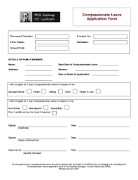 compionate leave form fill