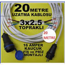 kauçuk fiş-priz 3x2.5 sağlam uzatma kablosu 20 mt Fiyatları ve Özellikleri