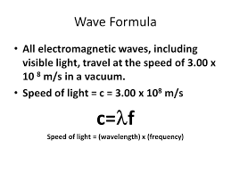 sd of light wavelength x frequency