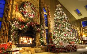 Decorating Room With Posters 2560x1600 New Year Fireplace Decor Fir Tree Fire Lights Room