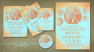 orange and turquoise wedding invitations. sand dollar vintage beach wedding invitation orange and turquoise invitations