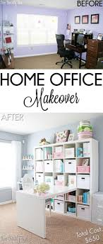 home office makeovers. Charming Home Office Makeovers Before And After Budget Makeover Interior: Small Size