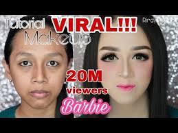 tutorial makeup barbie makeup kekinian rindynellakrisna