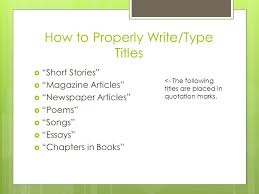 How To Properly Write A Book Title In A Paper