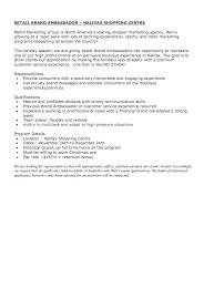 master plumber resume Retail Brand Ambassador Job Description Resume - http  .