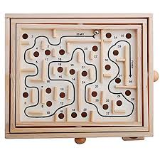 Wooden Maze Game With Ball Bearing Top 100 Maze Puzzles Heap Cool Toys 48