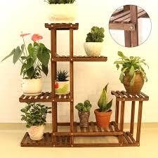 wooden plant stand flower display rack storage shelf indoor outdoor garden patio shelves metal