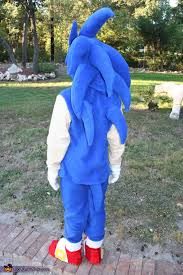 back view of sonic sonic the hedgehog costume