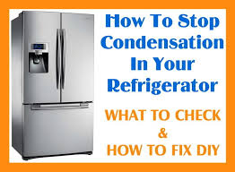 refrigerator condensation how to fix