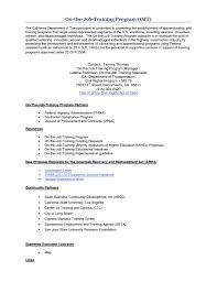 Daily Objectives Sample For Ojtme Letter General Career