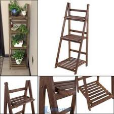 Wooden Ladder Display Stand Folding 100 Tier Wooden Ladder Plant Flower Display Stand Book Shelf 68