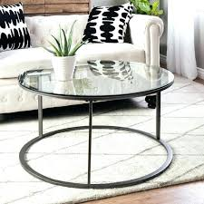 glass top coffee table clay alder home p round metal free frame furniture