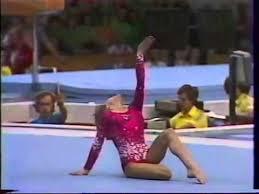 Elena Davidova 1980 OG AA FX - YouTube