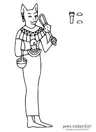 Egyptian Goddess Bastet Print Color Fun Free Printables
