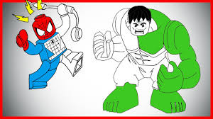 Small Picture LEGO Hulk and Spiderman Coloring Page LETs COLOR YouTube