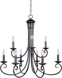 maxim lighting loft 9 light chandelier in oil rubbed bronze traditional chandeliers chandeliers