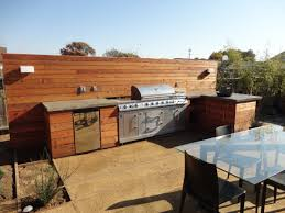 Outdoor Kitchen Countertops Custom Contemporary Outdoor Kitchen With Vesel Sink Concrete