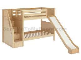 bunk bed with slide and desk. Stellar Medium Bunk Bed With Slide And Staircase Desk S