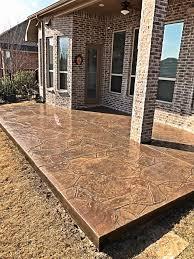 stamped concrete patio. Stamped Concrete Patio