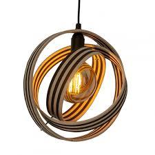 Lamp Lineae Round Blackwhite